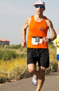 Running in a 5K in April, 2013